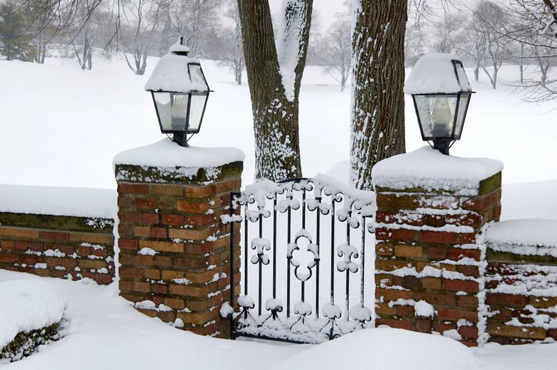 <br> <br> Garden Gate with Fresh Snow <br> <br>