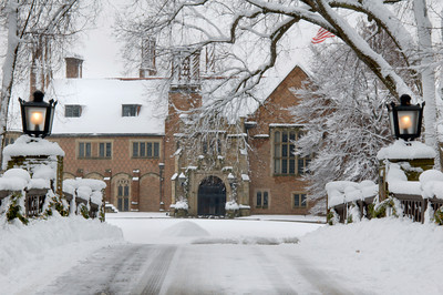 Meadow Brook Hall with Fresh Snow