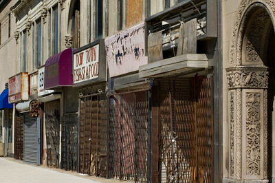 Closed Businesses in Downtown Detroit