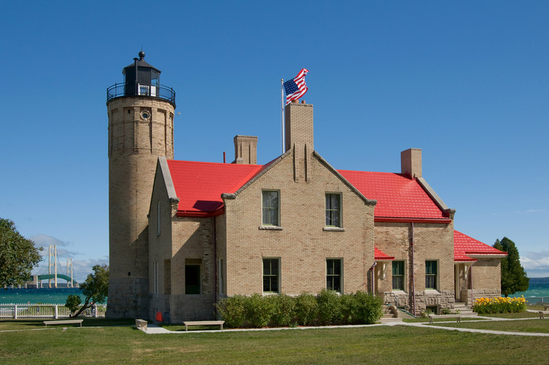 """<br> <br> The Old Mackinac Point Lighthouse in Mackinaw City <br> <br> buy:<a href=""""http://www.istockphoto.com/stock-photo-9060150-mackinac-lighthouse.php"""" > digital download</a>"""