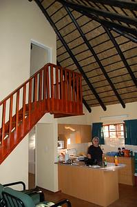 Chalet - Kitchen/Stairs to Loft Room