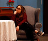 HOLLY PELCZYNSKI - BENNINGTON BANNER Madison Tifft plays the role of Mrs. Bradman in theatrical comedy of Blithe Spirit performed by the seniors at Mount Anthony Union high school the performance will debut  April 12-14 at 7 pm, with a matinee at 2 pm on Sat. 14th. Tickets ($8) and can be purchased at the high school office or can be purchased at the door.