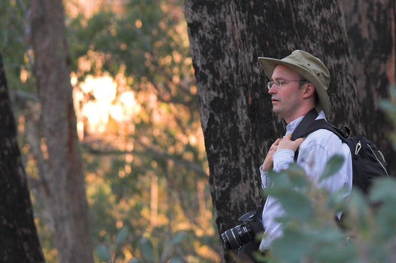Dale looks into the bush.
