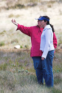 Janet explains the geology of the mountain to Maureen. Or maybe she was just pointing at a cloud.