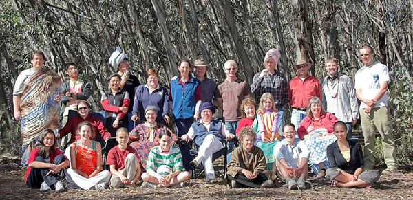 We'll start off with the group photo, 'cos everybody's in the group photo (except those who had left or who were down the mountain - we missed a few people this year). Back Row: Dennis Adami, Tom Chang, Anita Harrick, Tim, Jenny, Maureen Harrick, Mark Harrick, Darryl, Phil Harrick, Roland, Anthony, Simon Middle (sitting): David Reckenberg, Dale Bradbury, Peter Chang, Jacinta, Madison, Janet Front: Jordan, Emma, Loughlin,  Bethany, James, Grace, Sian Absent: Jessica, Diana Almonte, Jonathan Buttery