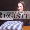 Marcus Smith/The Register<br /> <br /> Madeline Jones, CEO student, explains the process of how she makes her pillows Feb. 12. Jones said she is thinking about studying accounting in college and maybe even going on to earn a masters in business.