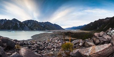 Tasman Lake and moraine, Tasman Valley, Aoraki Mount Cook National Park