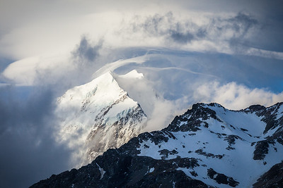 Mount Wakefield and South Face of Aoraki Mount Cook