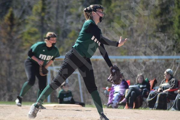 MDI softball against Presque Isle