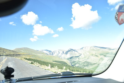 Bright and sunny, heading up Mount Evans.