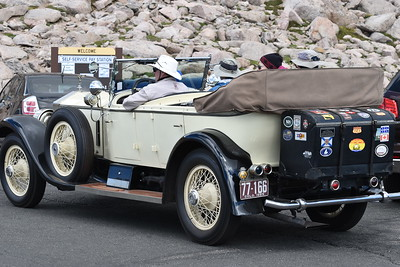 Rolls Royce summiting Mount Evans.