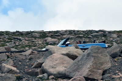 Sean and Charlie heading down Mount Evans.