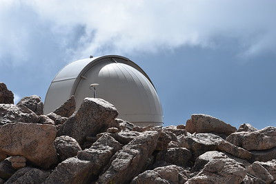 A great place for a telescope, atop Mount Evans.