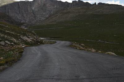 Descending Mount Evans.