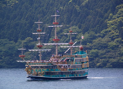 "A ""pirate ship"" sightseeing cruise on Lake Ashi"
