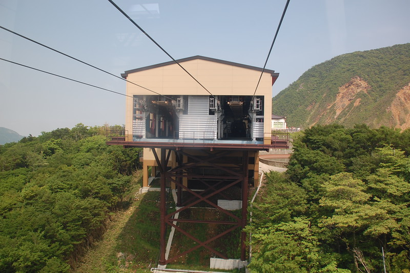Owakudani station on the Hakone Ropeway