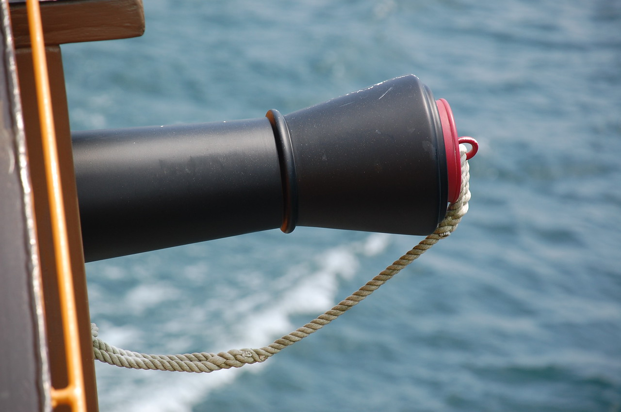 """Victory"", a sightseeing cruise ship on Lake Ashi"