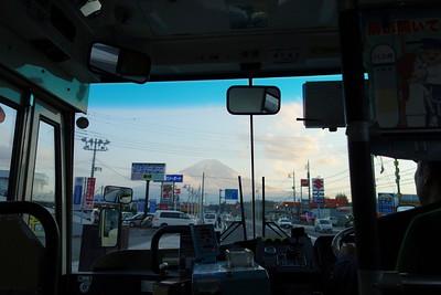 "View from Kawaguchiko ""Retro Bus"""