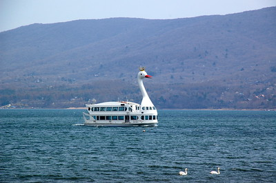 Ferry on Lake Yamanaka