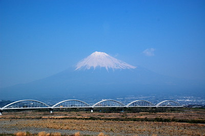 Mount Fuji viewed from Shinkansen
