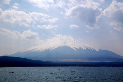 Mount Fuji viewed from Lake Yamanaka