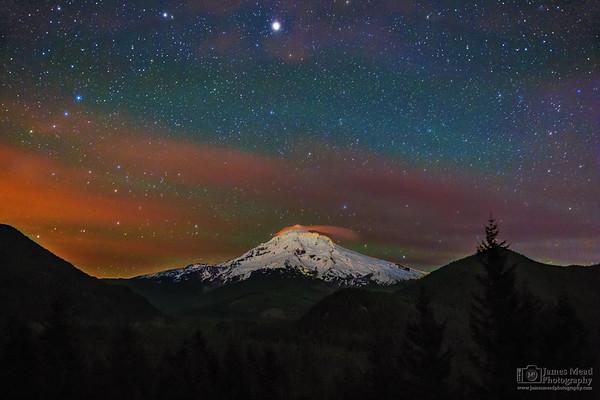 """Night Crown,"" Mount Hood National Forest, Oregon"