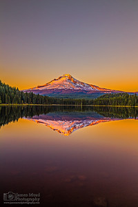 """Still Waters,"" Mt Hood and Trillium Lake at Sunset, Mount Hood National Forest, Oregon"