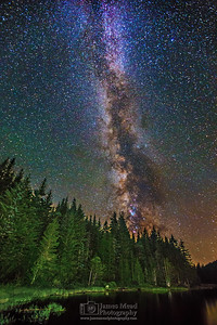 """Shimmering Magic,"" The Milky Way over Trillium Lake, Mt Hood, Mount Hood National Forest, Oregon"