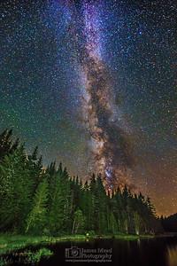 """Shimmering Magic,"" The Milky Way over Trillium Lake, Mt Hood, Mount Hood National Forest, Oregon"