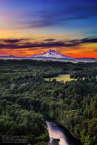 """Hello My Love,"" Dawn over Mount Hood, Mt Hood, Oregon"