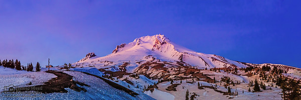 """Alpine Wonderland,"" Alpenglow on Mount Hood at Sunset, Mount Hood, Oregon"