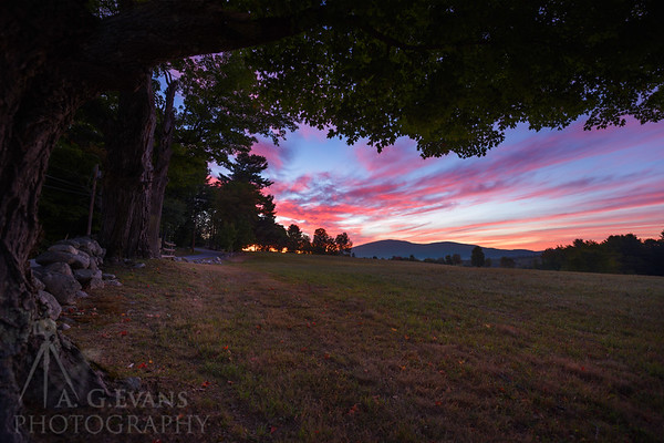 Sunrise over Kearsarge From Old Coach Road