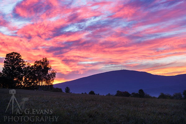 Sky Fire Over Mount Kearsarge
