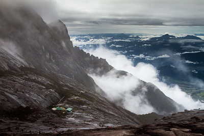 View of Sayat-Sayat checkpoint, below the summit of Mount Kinabalu, Borneo
