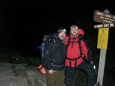 It was a cold night but once we started hiking, we warmed up quickly.