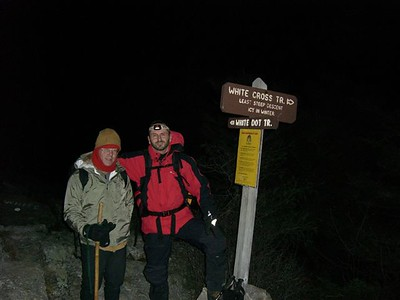 Starting out at 6:15, we went up the White Dot Trail from the Ranger Station.