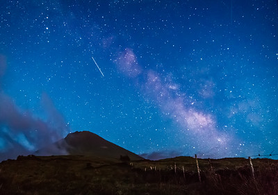 Pico, Meteors and Milky Way