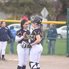 Mount Pleasant earned a split with top-ranked Midland Thursday, April 13, 2017, as won game two 3-2 on a two-run double by freshman Katie Sexton. The Chemics won game one by a 10-0 final. MIPrepZone Photos by Nate Schneider.