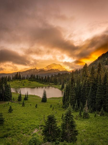 Tipsoo Lake Clouds