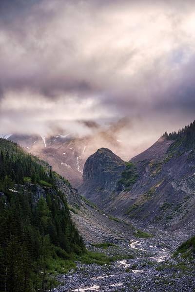 Valley into Mt Rainier
