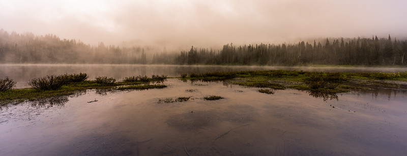 Misty and Moody Reflection Lake