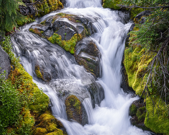 Water flowing off Mount Rainier