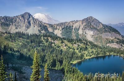 Mount Rainier Rising, from Upper Crystal Lake