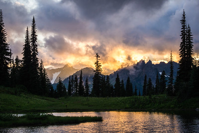 Tipsoo Lake Sunset, Mt. Rainier National Park