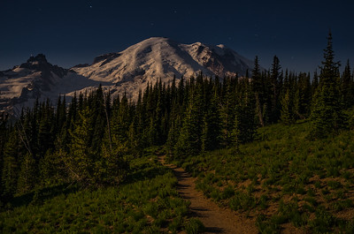Moonlit trail, Sunrise Region