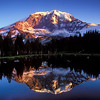 Mt. Rainier reflected in tarn at sunrise