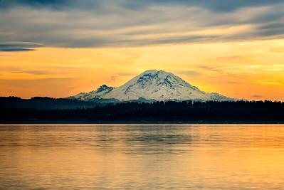 Mount Rainier Over Lake Washington