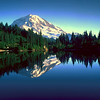 Mt. Rainier reflected in Eunice Lake
