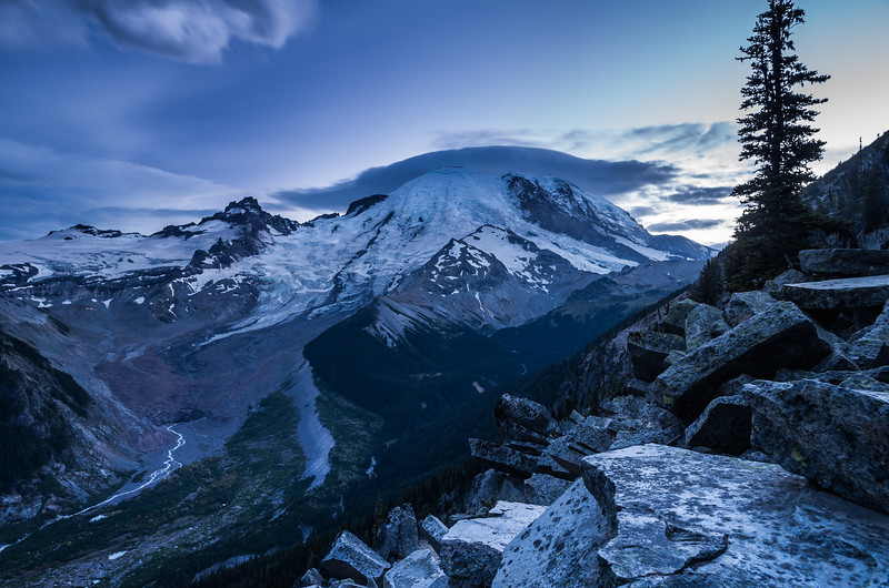 Sunset at Glacier Overlook, Sunrise Region