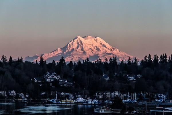 Mount Rainier - Near Sundown